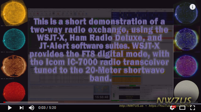 Photo of Demonstration of FT8 with Ham Radio Deluxe Logging