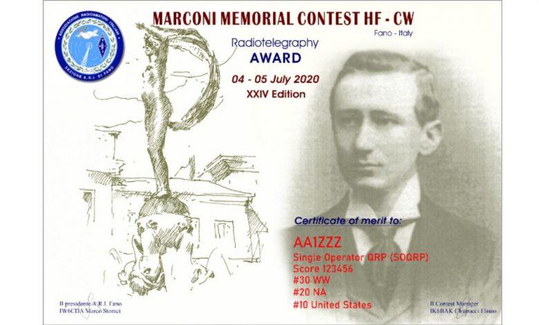 Photo of XXIV edizione – Marconi Memorial Contest HF CW