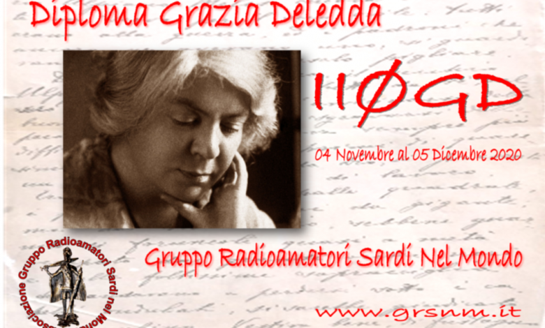Photo of II0GD – Sardegna, Diploma Grazia Deledda